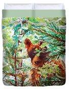 Wild Bear Peek-a-boo Watercolour Duvet Cover