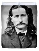 Wild Bill Hickok - American Gunfighter Legend Duvet Cover