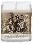 Wild Bill Hickok, Buffalo Bill Duvet Cover