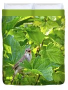 Wild Bird In A Currant Bush. Duvet Cover