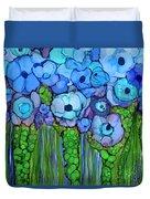 Wild Blue Poppies Duvet Cover