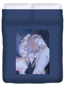 Wild Boar And Dogs Duvet Cover