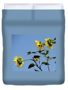 Wild Canary Sunflowers Duvet Cover