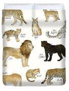 Wild Cats Duvet Cover by Amy Hamilton