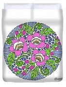 Wild Cherry Blossoms Duvet Cover