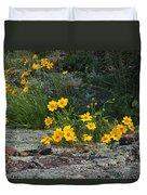 Wild Coreopsis On Hughes Mountain 1 Duvet Cover