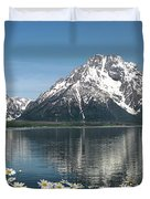 Wild Daisies In The Tetons Duvet Cover