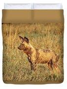 Wild Dog Of Botswana Duvet Cover
