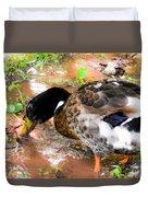 Wild Duck Mallard 1 Duvet Cover