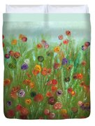 Wild Flowers Abstract Duvet Cover