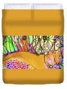 Wild Flowers Abstract Art - Sharon Cummings Duvet Cover