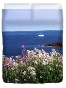 Wild Flowers And Iceberg Duvet Cover