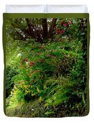 Wild Flowers On The Cliff Path Duvet Cover