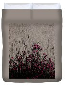 Wild Flowers On The Wall Duvet Cover