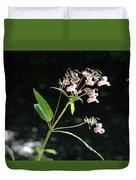 Wild Flowers Over Stream Duvet Cover