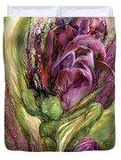 Wild Garden Tulips Duvet Cover