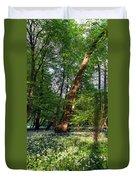 Wild Garlic  Duvet Cover by Tomasz Dziubinski