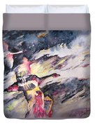 Wild Geese Flying In A Snow Storm Duvet Cover