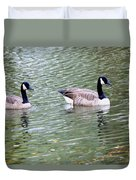 Wild Geese On A Lake 6 Duvet Cover