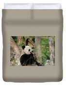 Wild Giant Panda Bear Eating Bamboo Shoots Duvet Cover