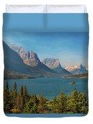 Wild Goose Island - Glacier National Park Duvet Cover
