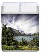 Wild Goose Island Glacier Park 2 Duvet Cover