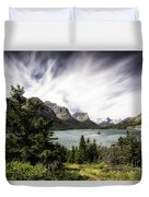 Wild Goose Island Glacier Park 4 Duvet Cover