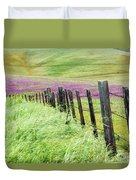 Wild Grain A Fence And Owls Clover Duvet Cover