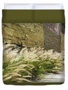 Wild Grass Along An Alley Wall Duvet Cover