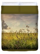 Wild Grass And A Lonely Cloud Duvet Cover