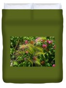 Wild Grasses And Red Clover Duvet Cover