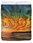 Wild Hearted Sun - Santa Cruz Duvet Cover by Joel Tesch