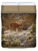 Wild Horse At Cold Creek Duvet Cover