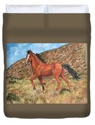 Wild Horse In Virginia City, Nevada Duvet Cover