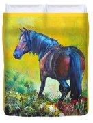 Wild Horse On Dartmoor - Roaming Free Duvet Cover