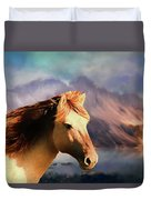 Wild Horse - Painting Duvet Cover