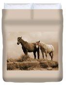 Wild Horses In Western Dakota Duvet Cover