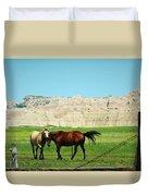 Wild Horses Of South Dakota Duvet Cover