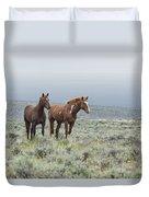 Wild Horses - Steens 1 Rw Duvet Cover