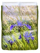 Wild Irises Duvet Cover by Marty Saccone