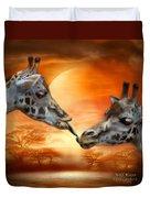 Wild Kisses Duvet Cover
