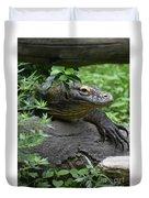 Wild Komodo Dragon Crawling Through Nature Duvet Cover