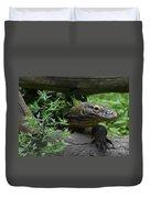 Wild Komodo Dragon Creeping Through Fallen Trees Duvet Cover