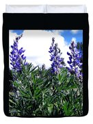 Wild Lupines Duvet Cover