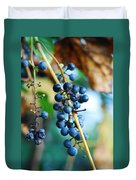 Wild Michigan Grapes Duvet Cover
