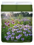 Wild Mints And Coneflowers Duvet Cover