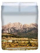 Wild Mountain Range Duvet Cover