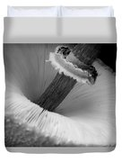 Wild Mushroom- B And W Duvet Cover