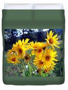 Wild Okanagan Sunflowers Duvet Cover