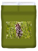 Wild Orchid In Meadow  Duvet Cover